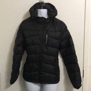 Nautica Men's Quilted Hooded Parka Jacket Sz M